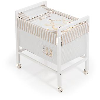 Interbaby Baby Crib Beige Square Rabbit Model