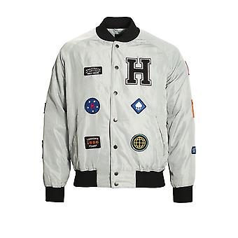 Hero's Heroine Patch Bomber Jacket Grey