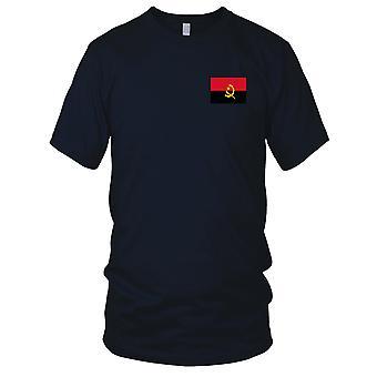 Angola Angolan Country National Flag - Embroidered Logo - 100% Cotton T-Shirt Mens T Shirt