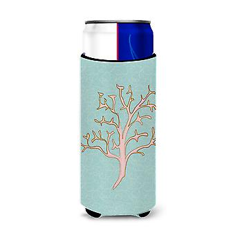 Carolines Treasures  BB8583MUK Coral Michelob Ultra Hugger for slim cans