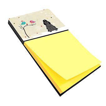 Christmas Presents between Friends Cocker Spaniel Black Sticky Note Holder