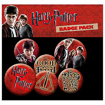 Harry Potter Icon Pack New Official Badge Pack (4x 25mm & 2x 32mm)