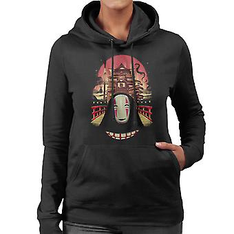 Spirited Away Welcome To The Magical Bath House No Face Women's Hooded Sweatshirt