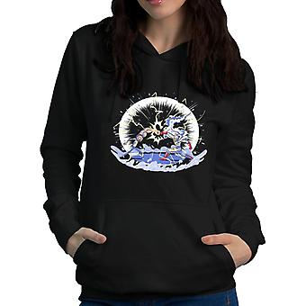 Cosmic Punch Clash Rick And Morty One Punch Man Women's Hooded Sweatshirt