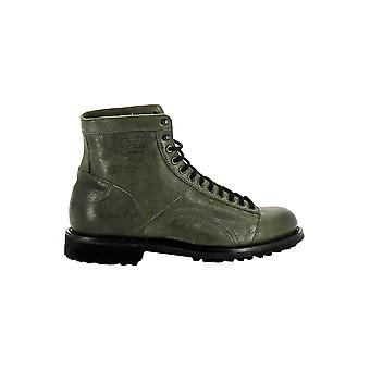 Longhi 168002 mens green leather ankle boots