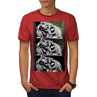 Lepricaun Nature Men Heather Red / RedRinger T-shirt   Wellcoda