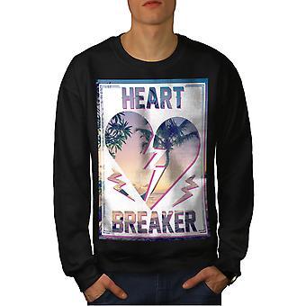 Heart Breaker Visualizza uomini BlackSweatshirt | Wellcoda