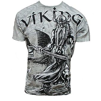 Fantasmogoria - VIKING VAHALLA - Mens Grey T-Shirt