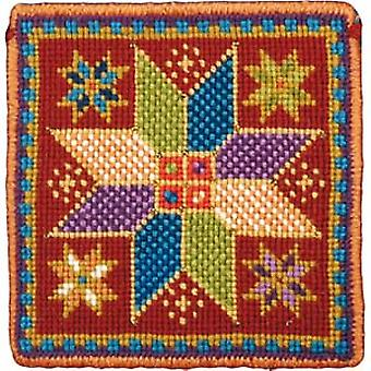 Small Star Tile Needlepoint Kit
