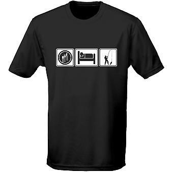Eten slapen vissen vissen kleingeestige Mens T-Shirt 10 kleuren (S-3XL) door swagwear