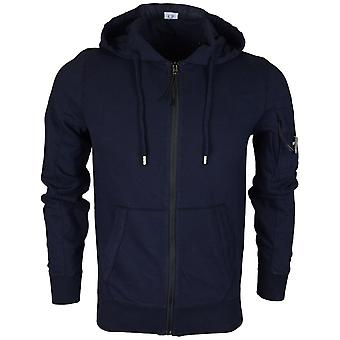 C.P. Company 04cmss052a Lens Zip Up Cotton Navy Hoodie