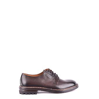 Doucal's men's MCBI102015O Braun leather lace-up shoes
