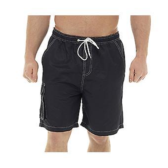 Tom Franks Mens Contrast Stitch Mesh Lined Summer Swimshorts