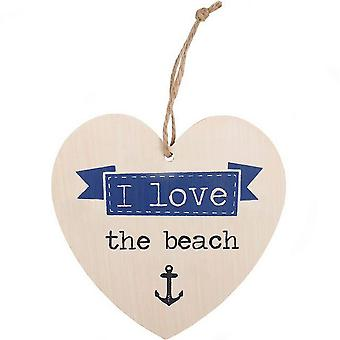 Something Different Love The Beach Hanging Heart Sign