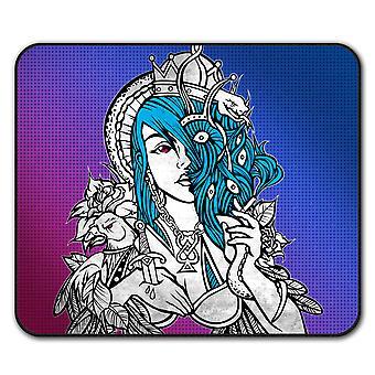 Queen Stylish Art  Non-Slip Mouse Mat Pad 24cm x 20cm | Wellcoda
