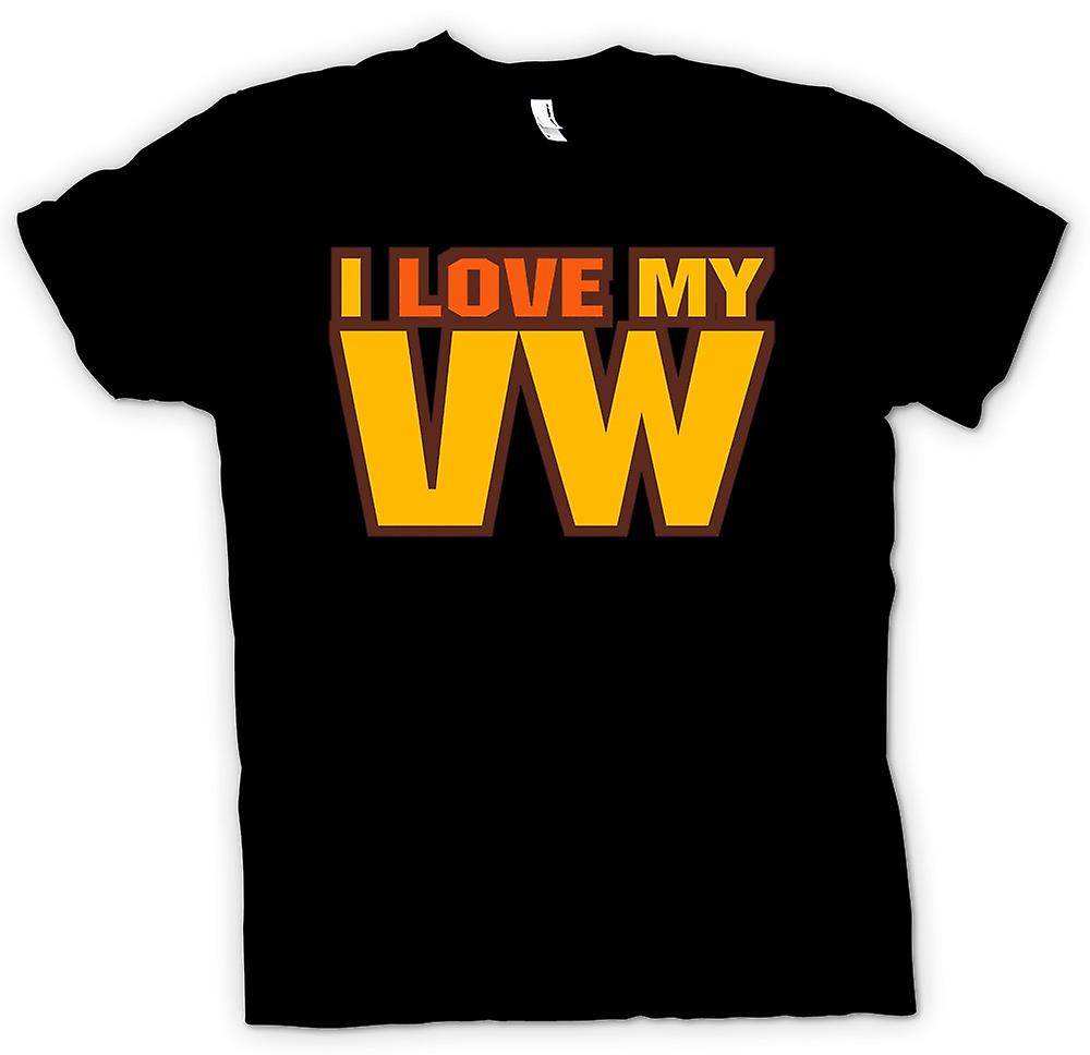Womens T-shirt - I Love My VW - Car Enthusiast