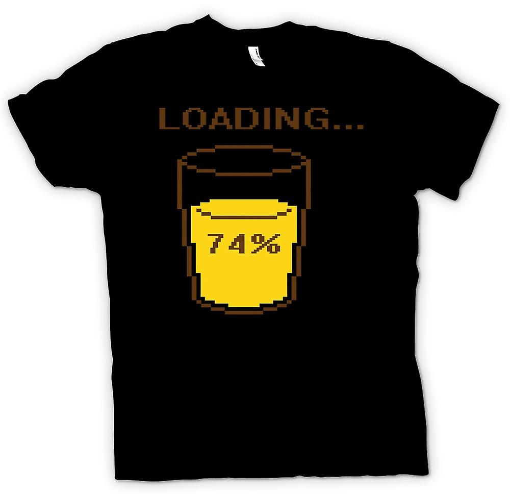 Mens T-shirt - Loading 74% Retro Gaming