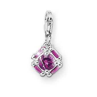 s.Oliver jewel ladies pendant charm silver bullet pink SOCHA/190 431569