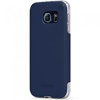 SAMSUNG GALAXY S6 PUREGEAR DUALTEK PRO CASE - BLUE/CLEAR