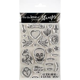 Hunkydory pour l'amour de timbres A6-Tattoo Art