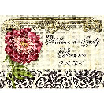 Gold Petite Elegant Wedding Record Counted Cross Stitch Kit-7