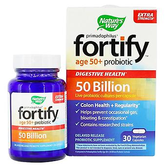 Nature's Way Fortify, Age 50+ Probiotic, Veggie Capsules, 30 Ea