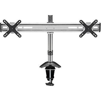 Goobay ScreenFlex Twin 2x Monitor desk mount 33,0 cm (13) - 58,4 cm (23) Swivelling/tiltable