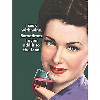 Je fais cuire avec du vin, parfois que j'ai même... En acier petit drôle signer 210 X 150 Mm