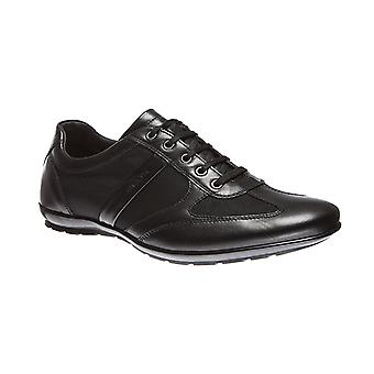 GEOX men real leather loafers black icon