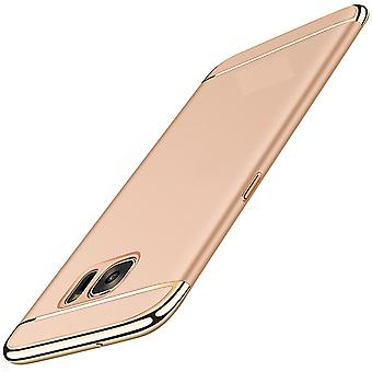 Cell phone cover case for Samsung Galaxy S6 bumper 3 in 1 cover chrome gold