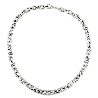 Collier en argent chaîne ancre chaîne diamantiert rhodium plaqué en argent sterling 925 50 cm
