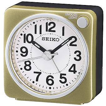 Seiko QHE118G Sweep Bedside Alarm Clock - Gold