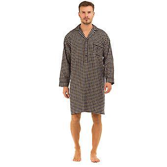 Haigman gedruckt gebürstete Baumwolle Nachthemd Nachtwäsche