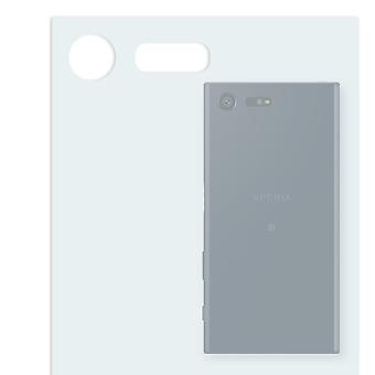 Sony Xperia X compact back screen protector - Golebo crystal-clear protector (deliberately smaller than the display, as this is arched)