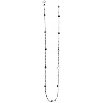 Beginnings Popcorn Bead Station Necklace - Silver