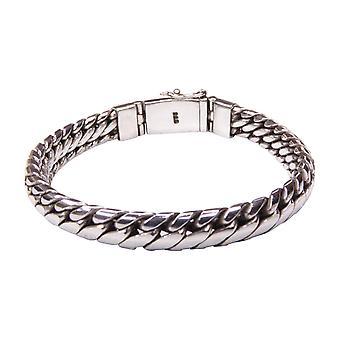 Silver bracelet with half round