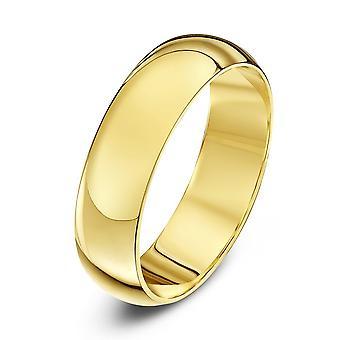 Star Wedding Rings 9ct Yellow Gold Heavy D Shape 5mm Wedding Ring