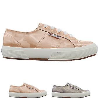 Womens Superga 2750 Army Chrome Metallic Fashion Lace Up Low Top Trainers