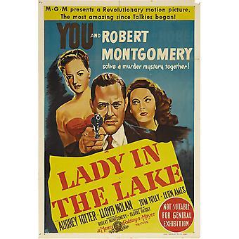 Dame à l'affiche du film de lac (11 x 17)