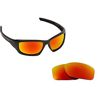 VALVE Replacement Lenses Polarized Red Mirror by SEEK fits OAKLEY Sunglasses