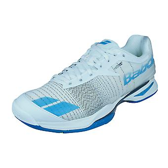 Babolat Jet All Court Mens Tennis Trainers / Shoes - White and Blue