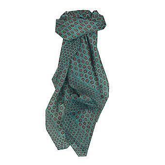 Mulberry Silk Contemporary Square sjaal Padra Teal door Pashmina & Silk