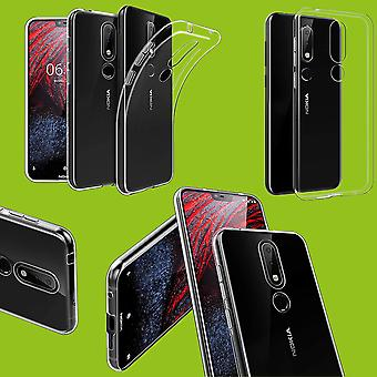Silikoncase transparent ultra thin case for Nokia 3.1 plus 6.0 inch case cover new