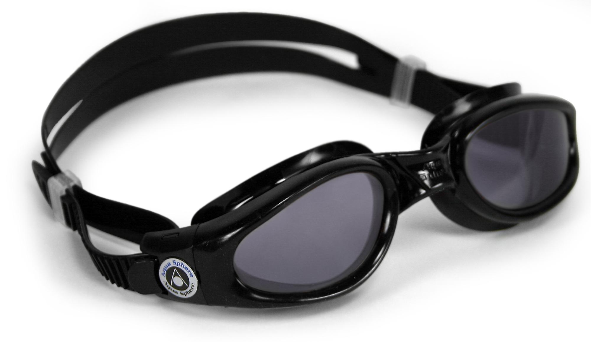 Aqua Sphere Kaiman Swimming Goggle - Smoke Lenses - Black
