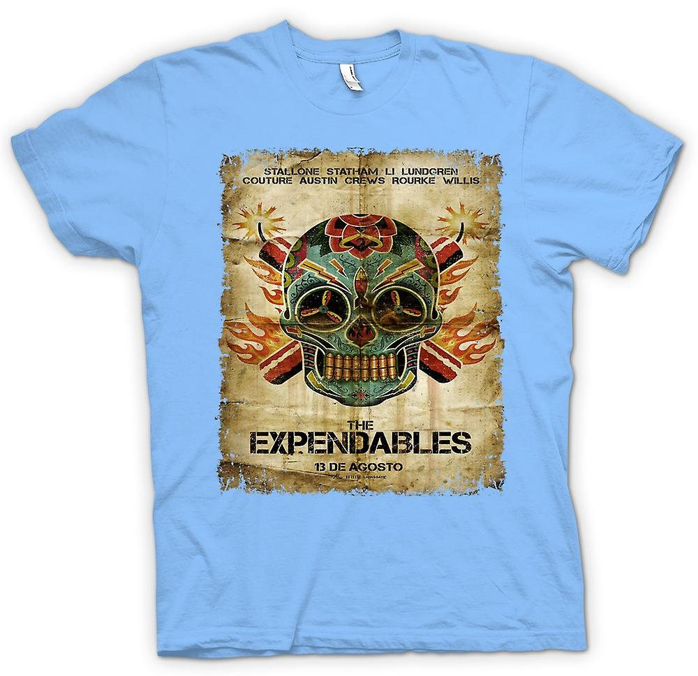 Mens T-shirt - The Expendables - B Movie - Poster