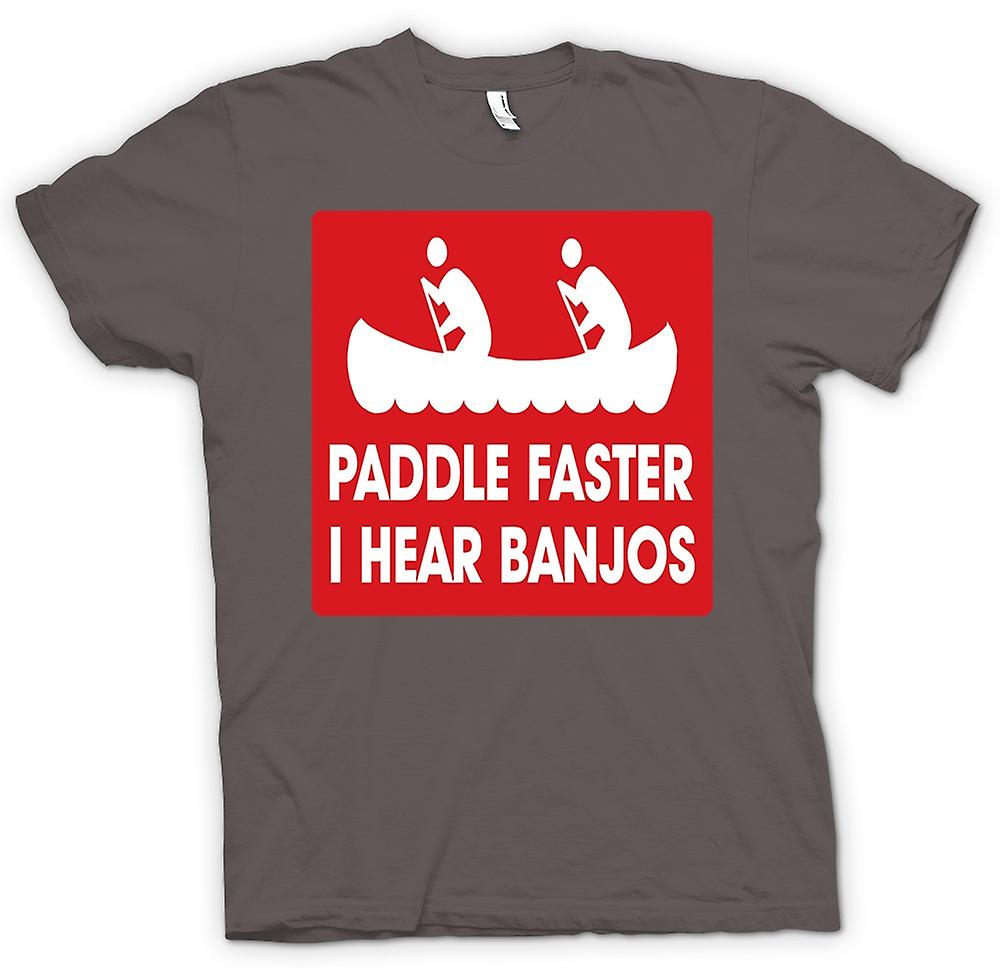 Hommes T-shirt - Palette plus rapidement I Hear banjos - Quote