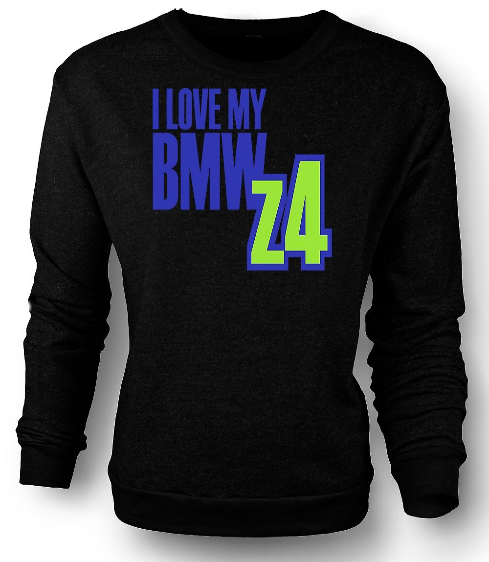 Mens Sweatshirt I Love My BMW Z4 - Car Enthusiast