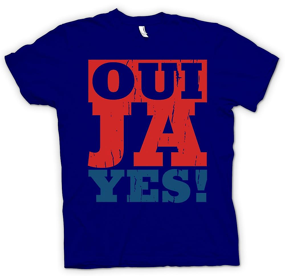 Mens T-shirt - Oui - Ya - Yes - Funny language