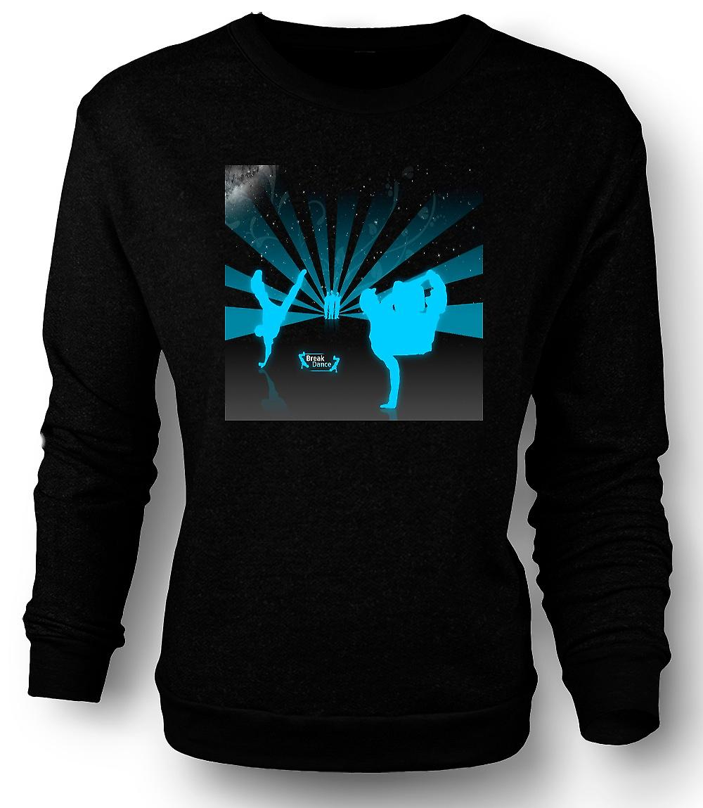 Mens Sweatshirt Break Dance Street Blue - Design