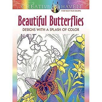 Kreativa oas vackra fjärilar: Mönster med ett stänk av färg